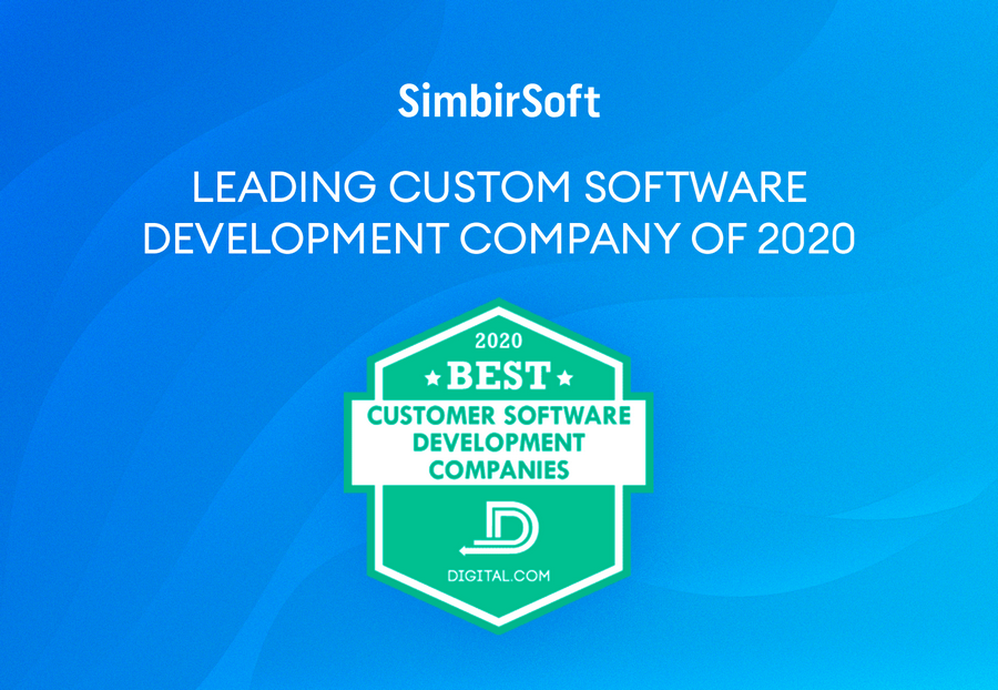 SimbirSoft Named Best Custom Software Development Company of 2020